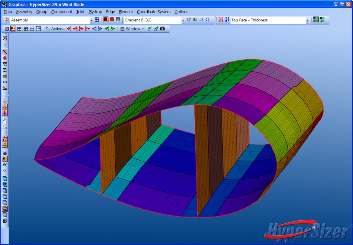 HyperSizer Wind Blade - Cut View